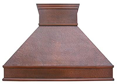 Custom Copper Vent Hood for Kitchen with Professional Range Hood Insert Classic Design with Hammered Texture Handcrafted by Skilled Sinda Artisan H10B