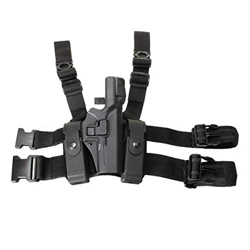 Ace Hunter Tactical Drop Leg Thigh Level 3 Lock Duty Pistol Holster f/Glock 17 19 22 Right