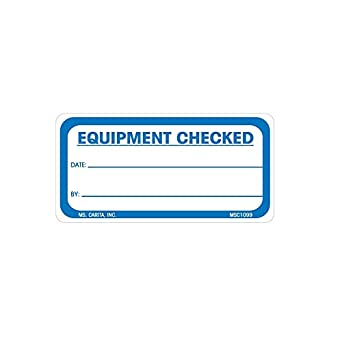 amazon com equipment checked labels 1 5 inch x 3 inch 500 per roll