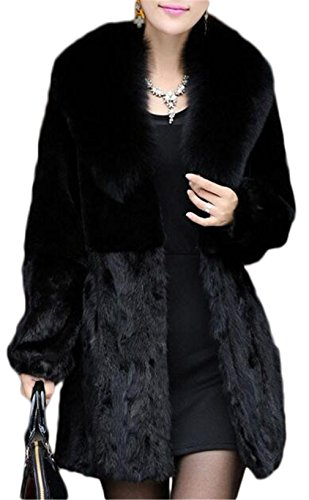 Fur Fake Costume Coat (Women's Elegant Solid Outerwear Long Faux Fur)