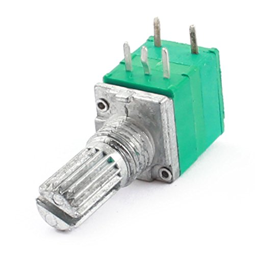 [Uxcell a14071400ux0085 50K Ohm 6 mm Diameter Knurled Shaft Linear Rotary Taper Potentiometer with Switch] (Switch Potentiometer)