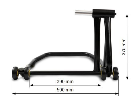 adaptor incl. ConStands Rear Paddock Stand MV Agusta Brutale 800 RR 15-19 black Single Swing Arm
