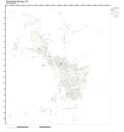 Amazon.com: ZIP Code Wall Map of Steamboat Springs, CO ZIP Code