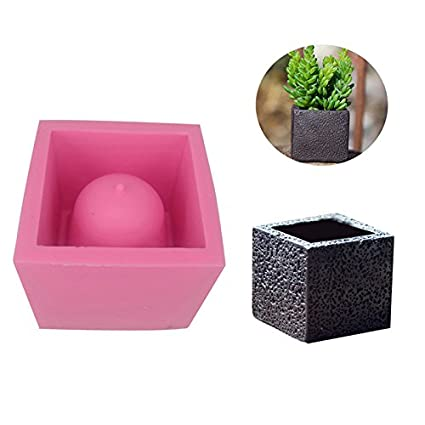 Amazon Diy Square Cement Flower Pot Silicone Mold Crafts