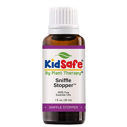 Plant Therapy Essential Oils Sniffle Stopper Synergy - Respiratory Support Blend 100% Pure, KidSafe, Undiluted, Natural Aromatherapy, Therapeutic Grade 30 mL (1 oz) (Best Oils For Congestion)