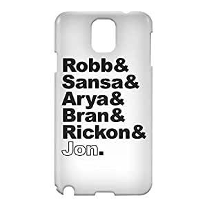 Loud Universe Samsung Galaxy Note 3 3D Wrap Around Stark Family Print Cover - White