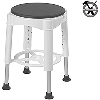 Amazon.com: Carex EZ Swivel Stool, 7 Pounds, for Assistance in ...
