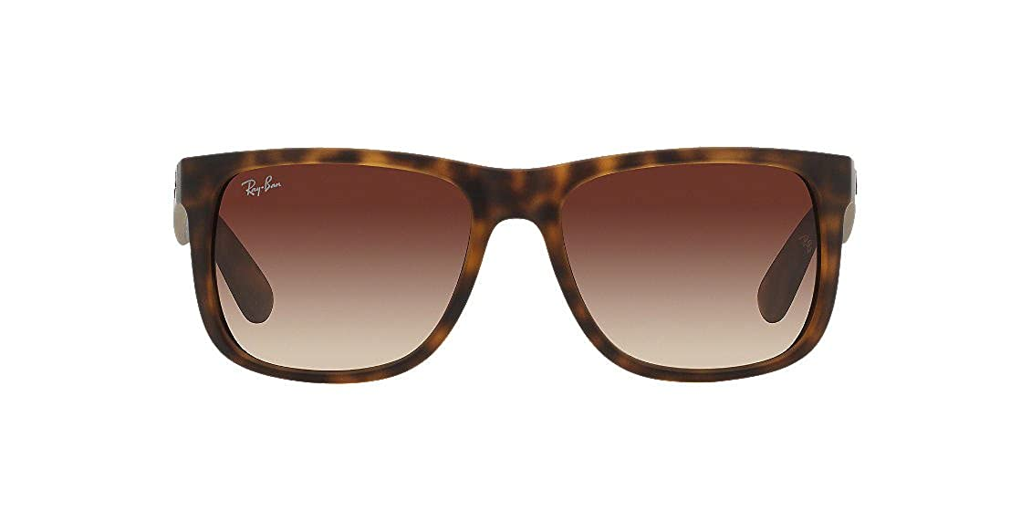 4335a685830 Authentic Ray-Ban Justin RB 4165 710 13 55mm Rubber Light Havana Brown  Gradient  Amazon.co.uk  Clothing