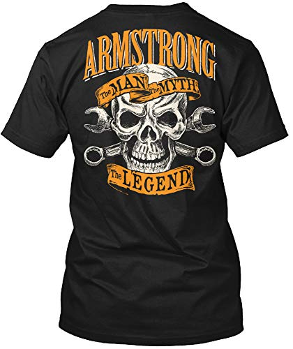 Armstrong The Man The Myth The Legend 2XL - Black Tshirt - Hanes Tagless Tee