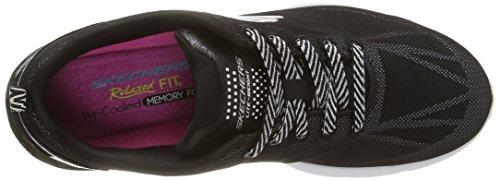 para de nbsp;Front Skechers Zapatillas Page Valeris Deporte Mujer Negro vIBwzqYx