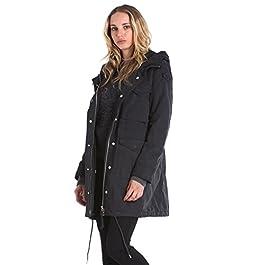 Diesel W-PUJA-B GIACCA Women's Jacket Parka Coat Black