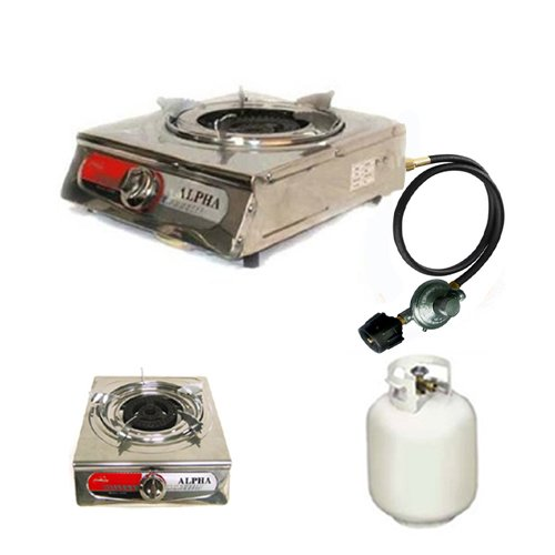 Alpha Portable Propane One Burner Gas Stove, Outdoor Stuffs
