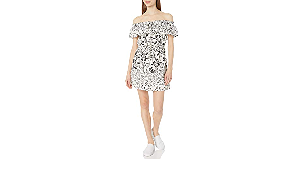 My Michelle Womens Off The Shoulder Pop Over Dress
