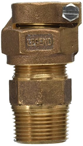 LEGEND VALVE AND FITTING 313-209NL T-4300 No Lead Copper Tube Size Pack Joint and Male Iron Pipe Water Service Coupling Socket, 3/4