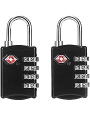 Candado para maleta aprobado por la TSA (2 piezas) / Set de dos candados para viajar/ crea tu propia combinación, perfecto para lockers del gimnasio, escuelas, maletines, equipaje, caja de herramientas y más! V2