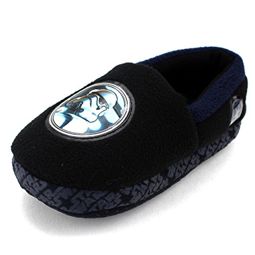 Star Wars Kids A-Line Slippers (7/8 M US Toddler, Storm Trooper Black) (Storm Trooper Sexy)