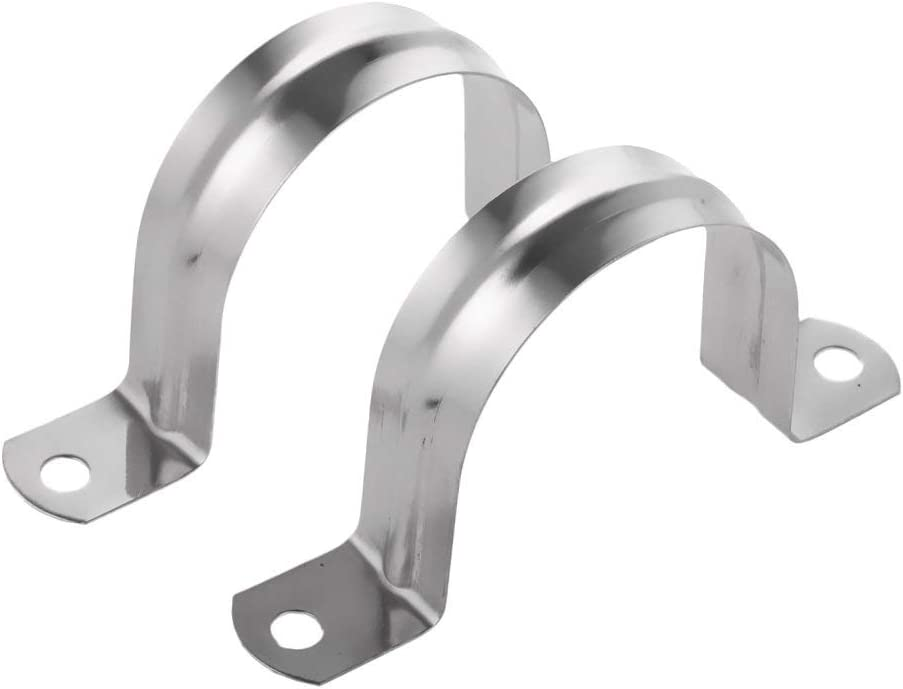 25mm 2 Pieces Pipe Tube Bracket Stainless Steel Two Hole Pipe Clamps Clip Fit for Pipe Fixing Support Accessories