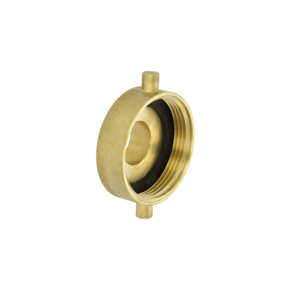 Moon 369 3021521 Brass Fire Hose Adapter, Pin Lug, 3 NH Female x 1 1/2 NH Male