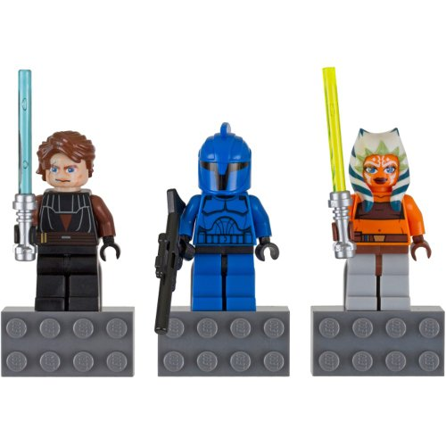 LEGO Anakin Skywalker, Ahsoka Tano, and Senate Commando Star Wars Magnet Set