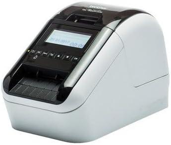 Brother QL-820NWB - Impresora de etiquetas (WiFi, Bluetooth 2.1, USB 2.0, pantalla LCD, cortador automático, impresión a negro y rojo)