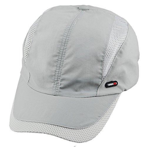 (squaregarden Baseball Cap Hat,Running Golf Caps Sports Sun Hats Quick Dry Lightweight Ultra Thin,Light Grey 2,One Size)
