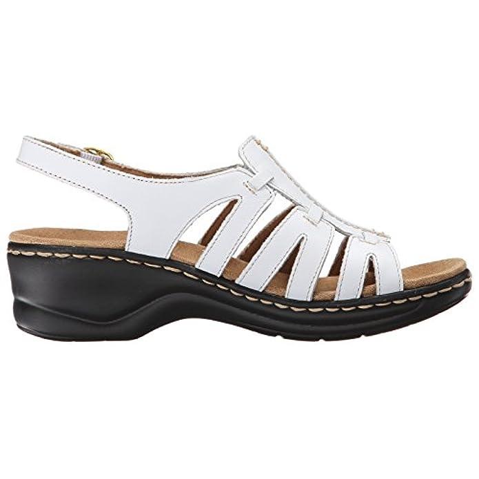 Clarks Women's Lexi Marigold Q Platform White Leather 5 Medium Us