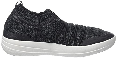 Slip Uberknit Black 546 Soft Grey on Multicolour Trainers Fitflop WoMen Ghillie Sneakers wqSSIC