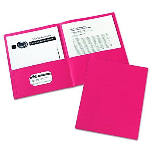 Avery Two Pocket Folders Red 47989