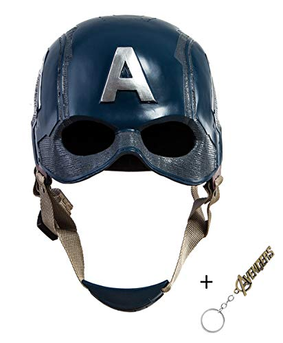 Traveller Captain America 3 Civil War Helmet Movie Cosplay Props for Adult, Navy Blue, one -