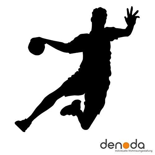 Denoda Denoda Denoda Handballer - Wandtattoo Schwarz 100 x 101 cm (Wandsticker Wanddekoration Wohndeko Wohnzimmer Kinderzimmer Schlafzimmer Wand Aufkleber) B00KD9YBCQ Wandtattoos & Wandbilder 8c6380