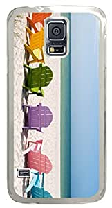 Beach Chair DIY Hard Shell Transparent Best Designed Samsung Galaxy S5 I9600 Case