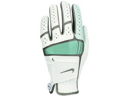 Nike Golf Women's Tech Xtreme IV Regular Left Hand Glove in White with Green Trim