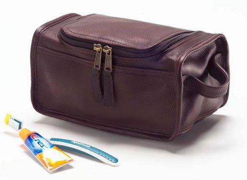 [Clava Shaving/Cosmetic Case - Leather - Vachetta Cafe - Vachetta Cafe] (Case Vachetta Leather)