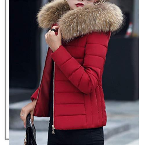 Court Femme Plusieurs de Taille Garder Capuche Photo Couleurs Grande Mince la Manteau au Couleur8 Chaud en avec Femme Hiver Mode Doudoune Fanessy Fourrure wIqfSWFxXW