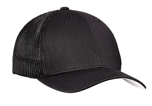 ck Flex-Fit Trucker Cap-Black/Black S/M (6 3/4-7 1/4) (Logo Flex Hat)