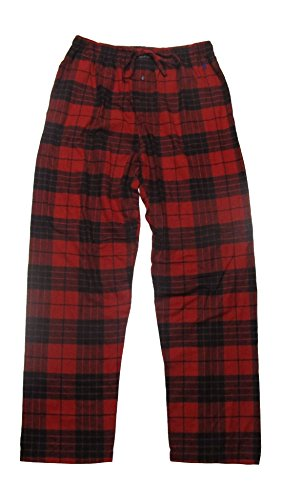 Plaid Flannel Lounger (Polo Ralph Lauren Men's Flannel Pajama Pants / Loungers (Large, Franklin Red Derby Plaid))