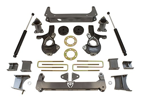 Rear Subframe Bracket - MaxTrac K941370 Suspension Lift Kit 7 in. Lift Incl. Steering Knuckles/Subframes/Rear Maxtrac Shocks/Brackets And Hardware Suspension Lift Kit