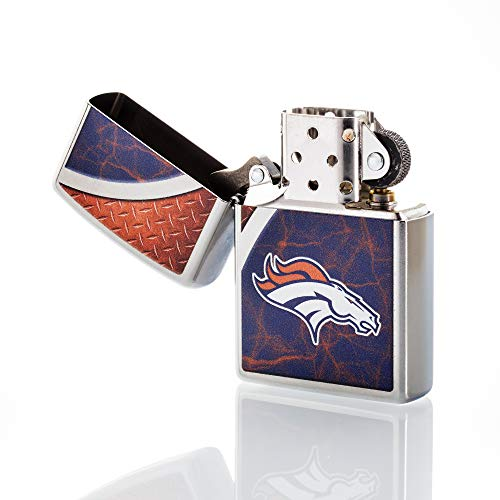 Zippo Broncos Nfl Denver Lighter (Zippo NFL Denver Broncos Refillable Lighter, Blue, One Size)