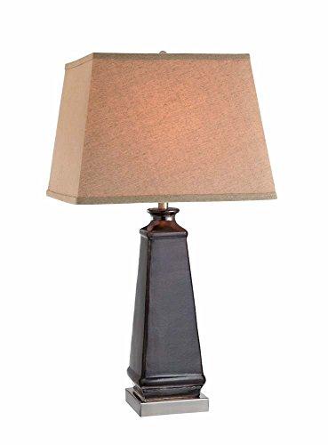 Pewter Barrel Stein - Stein World Furniture Metal Table Lamp, Black, Brush Steel