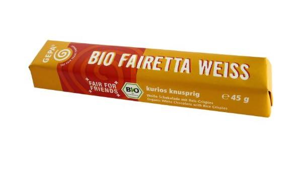 Gepa Chocolatina Blanco Crisp Bio - 45 gr: Amazon.es: Alimentación y bebidas