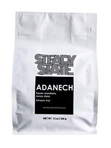 Whole Bean Coffee, Light Roasted Ethiopian Coffee, Adanech 12oz Coffee Bag,Natural, Blueberry, Sweet Mandarin, Guji Coffee Beans by Steady State Roasting