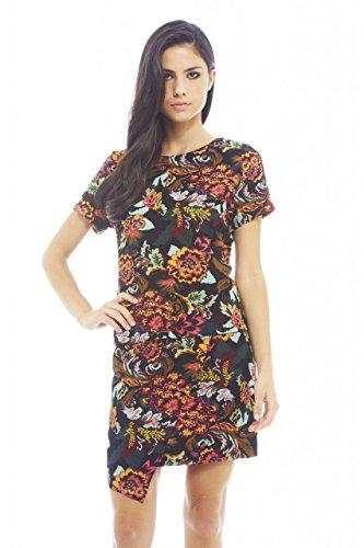 Price comparison product image AX Paris Wrap Style Printed Skirt(Black,  Size:8)