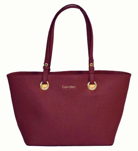 Calvin Klein Saffiano Leather Tote Handbag CK Purse, Bags Central