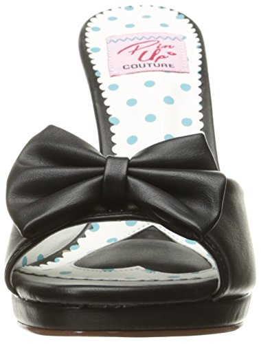 Pinup Couture Women's Siren-03 Platform Sandals Black (Blk Faux Leather) vbFaAdr