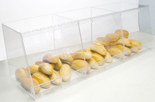 Bulk Bread Storage Display Case 3 Containers for Deli or ...