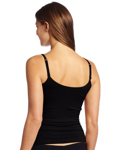 Vanity Fair Women's Seamless Tailored Camisole 17210, Midnight Black, Medium