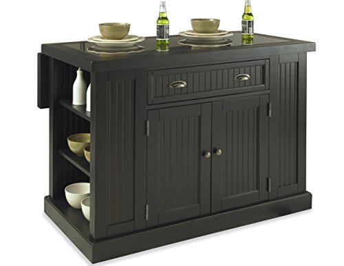 Home Styles 5033-94 Nantucket Kitchen Island, Distressed Black (Black Kitchen Island)