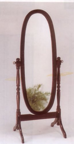Cherry Finish Cheval Mirror By Acme Furniture ()