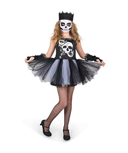 Girl's Skull Tutu Costume for Halloween Costume Party Accessory, Extra Large ()