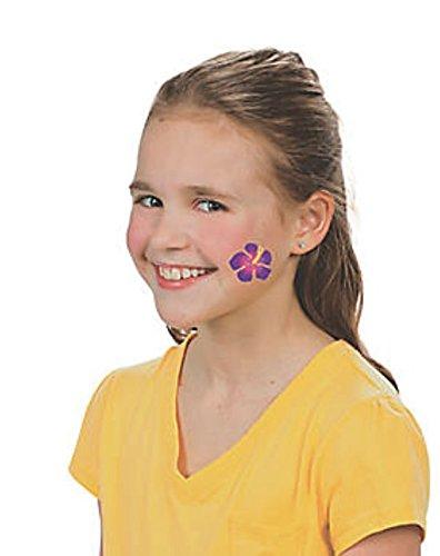 Poly Leis and Glitter Tattoos toyco Nikkis Knick Knacks 72 Piece Luau Party Favor Set